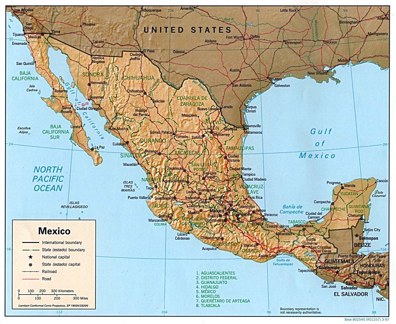 Mexico Map Map Of Mexico Mexico City